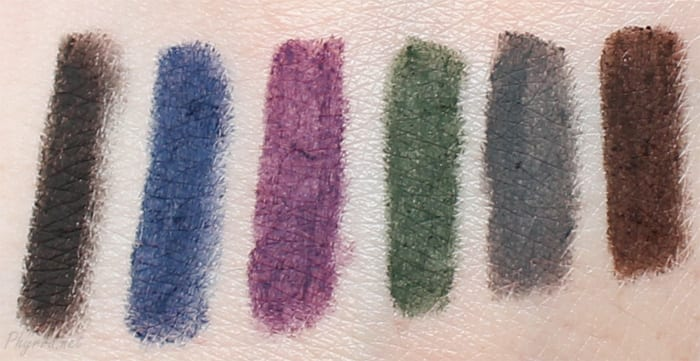 Urban Decay 24/7 Velvet Glide-On Eye Pencils Review Swatches