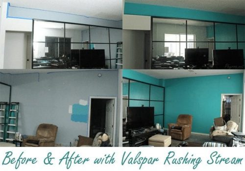 Before and After with Valspar Rushing Stream