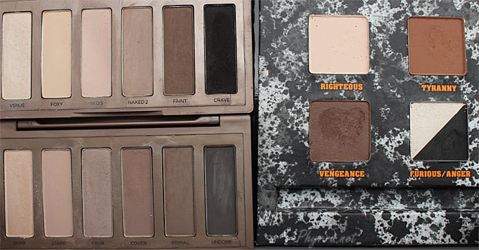 Urban Decay Naked Basics vs. Naked 2 Basics vs. Pulp Fiction Comparison Review Swatches