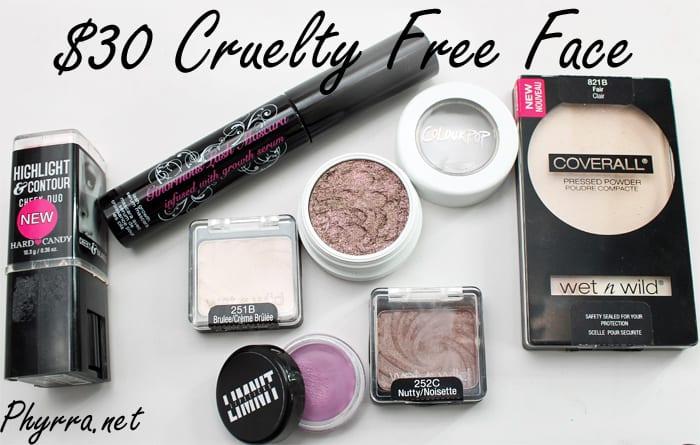 Thirty Dollar Cruelty Free Face