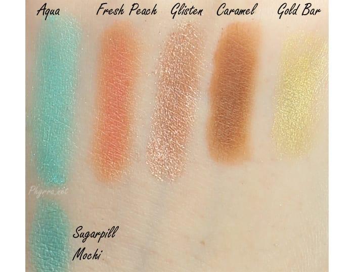 Anastasia Beverly Hills Aqua compared to Sugarpill Mochi