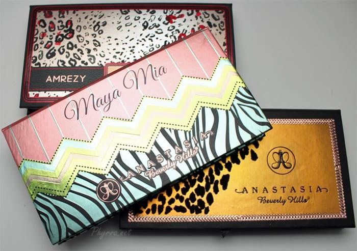 Anastasia Beverly Hills Maya Mia, Amrezy, and Catwalk Palettes