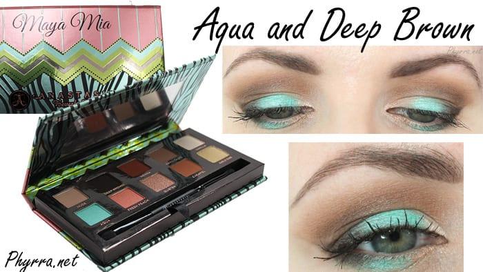 Anastasia Maya Mia Aqua and Deep Brown Tutorial