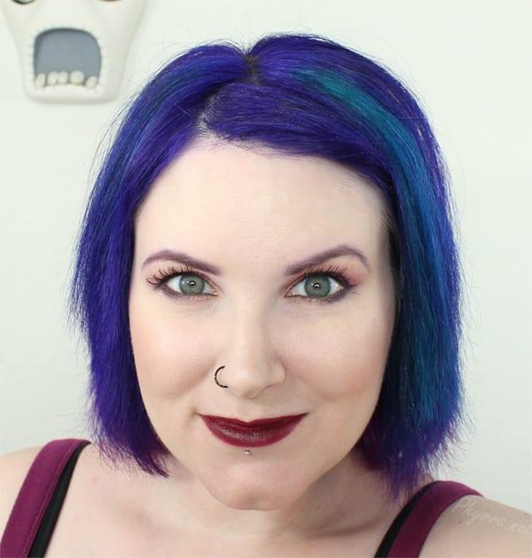 Wearing NARS Audacious Lipstick in Ingrid