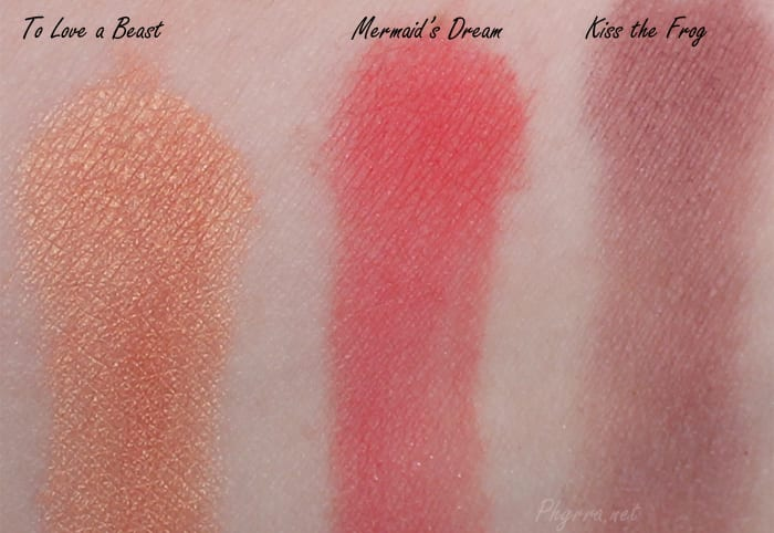 Darling Girl To Love a Beast, Mermaid's Dream, Kiss the Frog, swatches, review