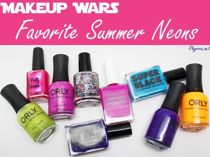 Makeup Wars Favorite Neon Polishes