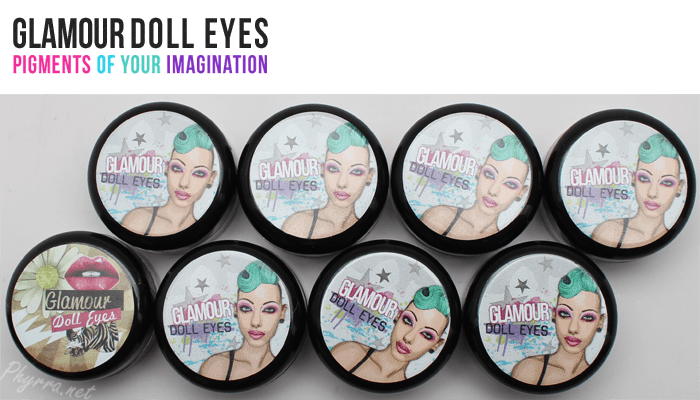 Glamour Doll Eyes Eyeshadows Swatches and Review