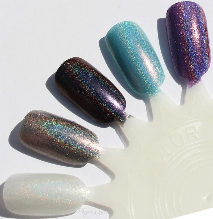 Literary Lacquers Tesseract - Aunt Beast - Camazotz - Swallowed Up in Blue - Megatron, Swatches, Review
