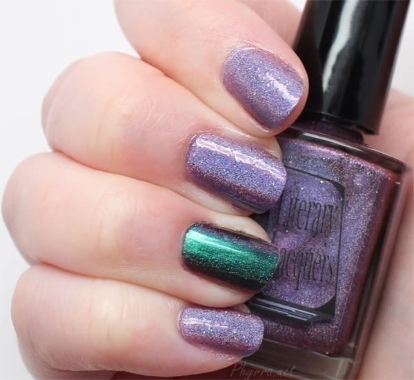 Wearing Literary Lacquers Megatron with an accent of ILNP Sirene (H)