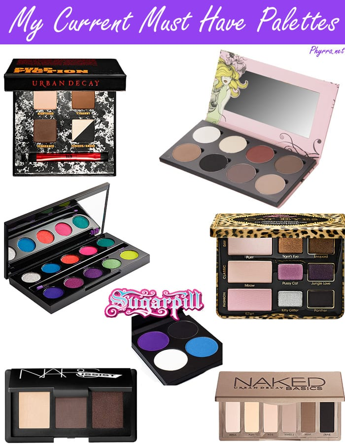My Current Must Have Makeup Palettes