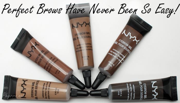 Nyx Eyebrow Gel Review Swatches Video