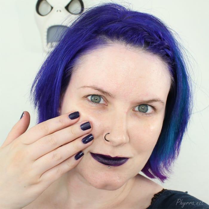 Wearing Pagan Lip tar and Pagan Nail Polish