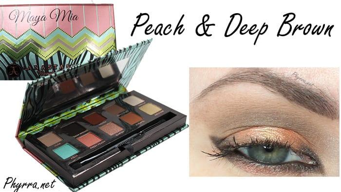 Anastasia Maya Mia Peach and Deep Brown Tutorial