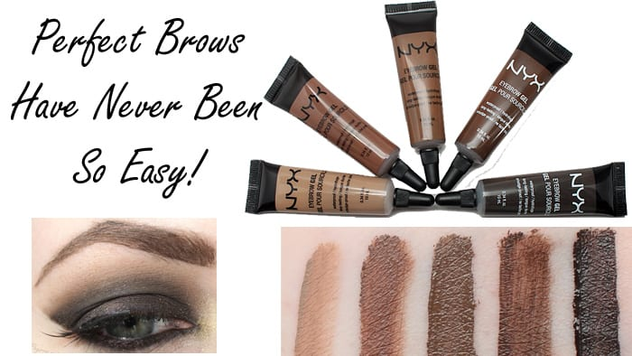 Nyx Eyebrow Gel Review and Swatches