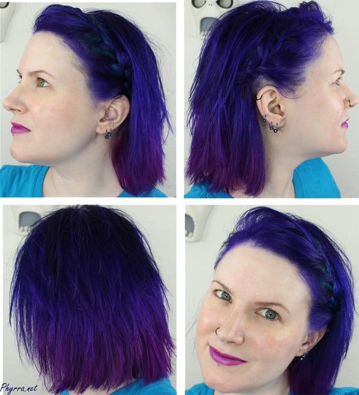 Hair Dye Long Bob Pravana Purple