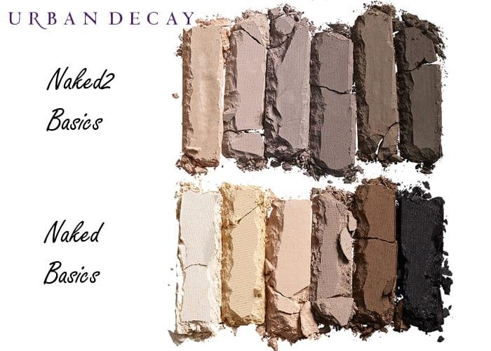 Urban Decay Naked2 Basics comparison Naked Basics