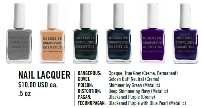Obsessive Compulsive Cosmetics Unknown Pleasures Review Swatches