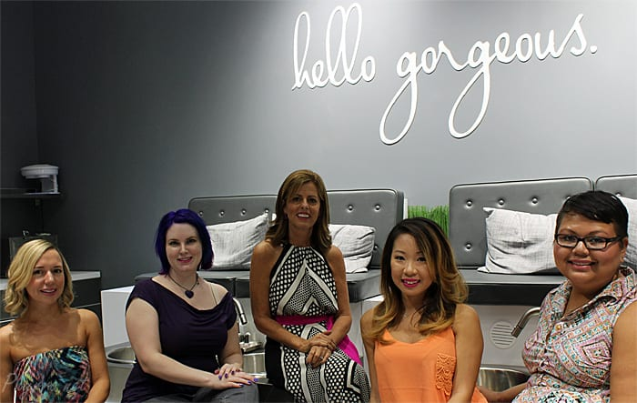Blo Body Blow Dry Bar Tampa with owner Cynthia