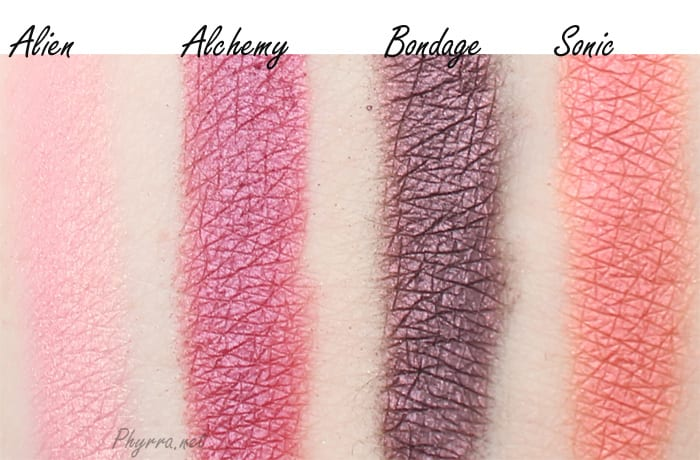 Urban Decay Vice 3 Alien, Alchemy, Bondage, Sonic, Video Review Swatches