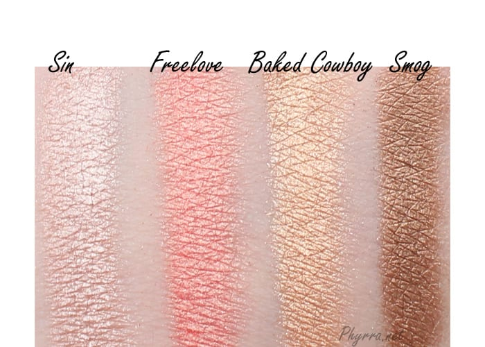 Urban Decay Shadow Box Sin, Freelove, Baked Cowboy, Smog, Swatches Review Video