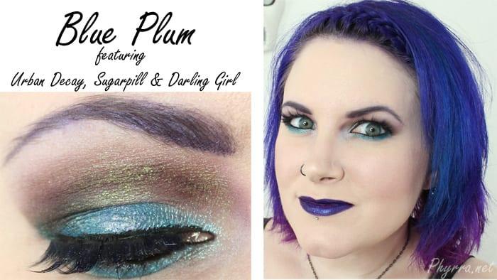 Urban Decay Sugarpill Darling Girl Blue Plum Tutorial