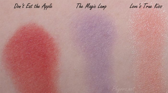 Darling Girl Don't Eat the Apple, The Magic Lamp, Love's True Kiss, Swatches, Review