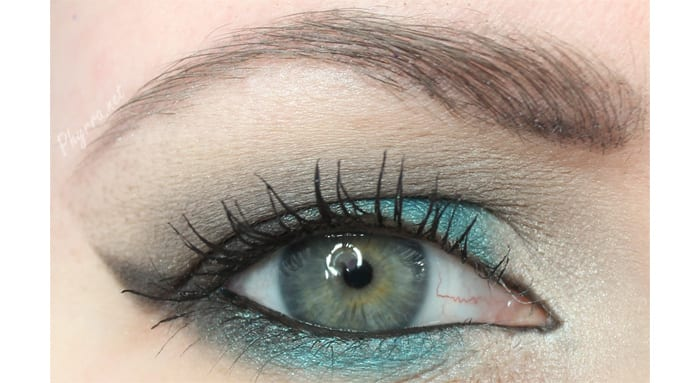 Urban Decay Teal and Grey Look
