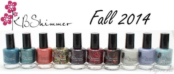 KBShimmer Fall 2014 Collection Review Swatches