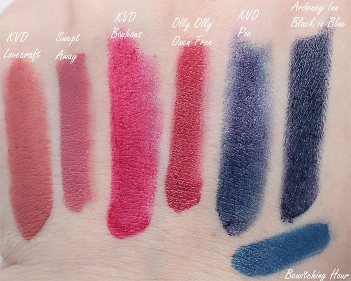 Limnit Lipsticks vs. Kat Von D comparison