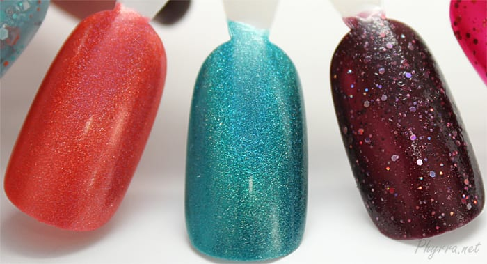 KBShimmer Rust No One, Up and Cunning, A Raisin to Live Swatch