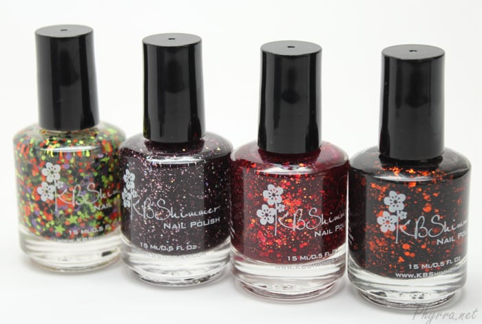 KBShimmer Kiss and Spell and A Raisin to Live and Leaf of Faith and Jack