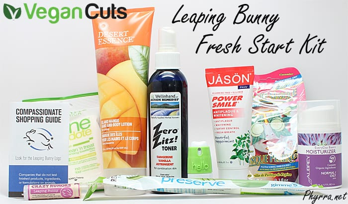Vegan Cuts Leaping Bunny Fresh Start Kit