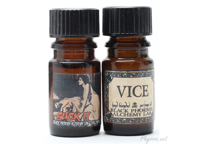 Black Phoenix Alchemy Lab Suck It and Vice Perfumes