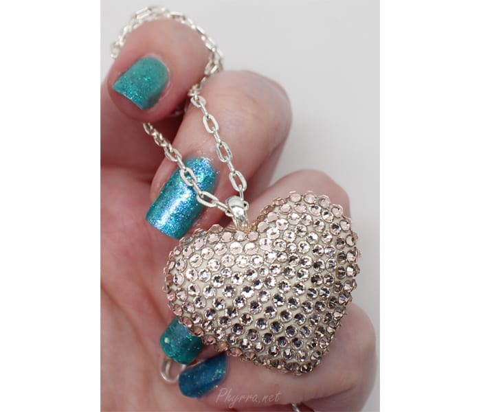 Bunny Paige Silk Heart Necklace