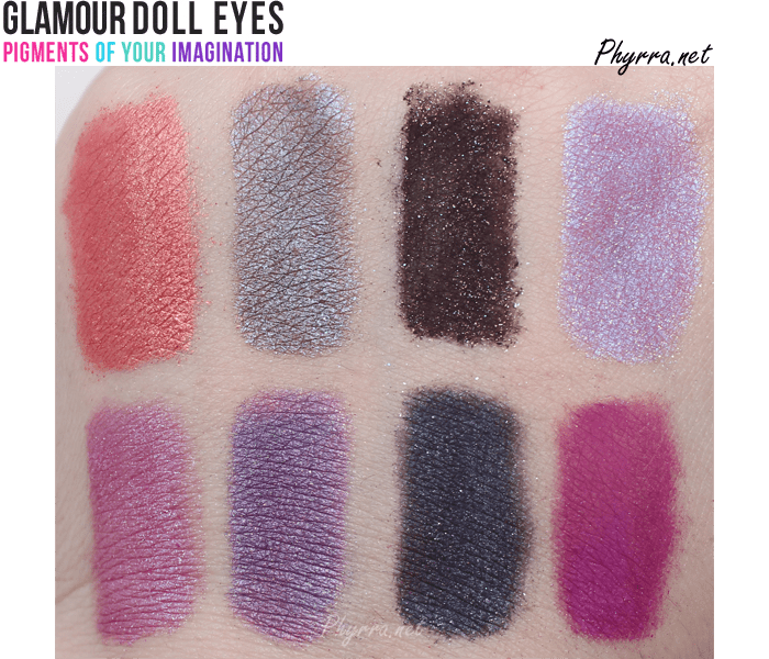 Glamour Doll Eyes Eyeshadows Review and Swatches