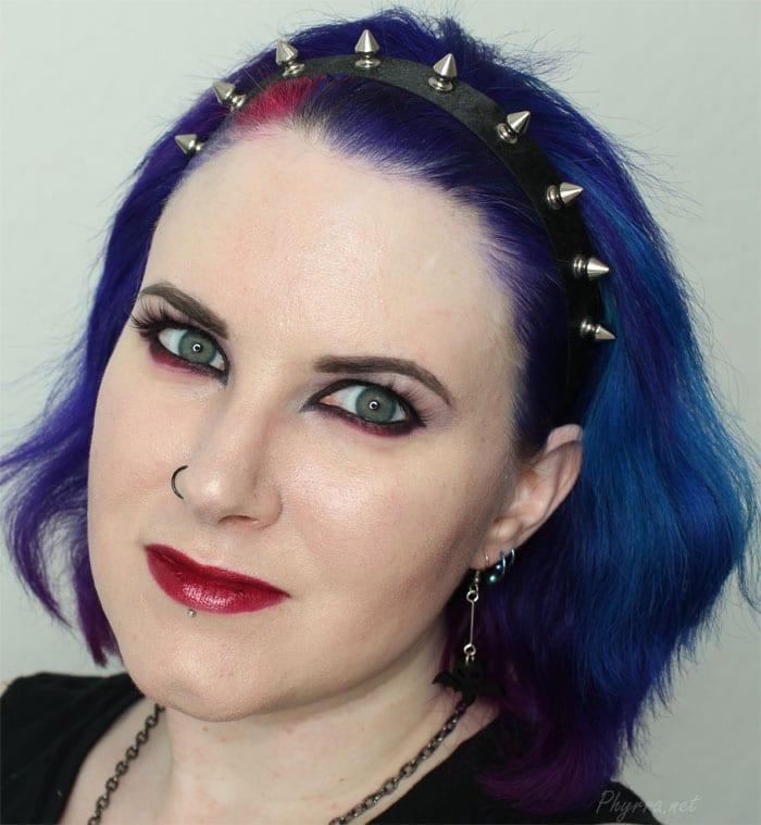 Black, Purple, Red Eyeshadow