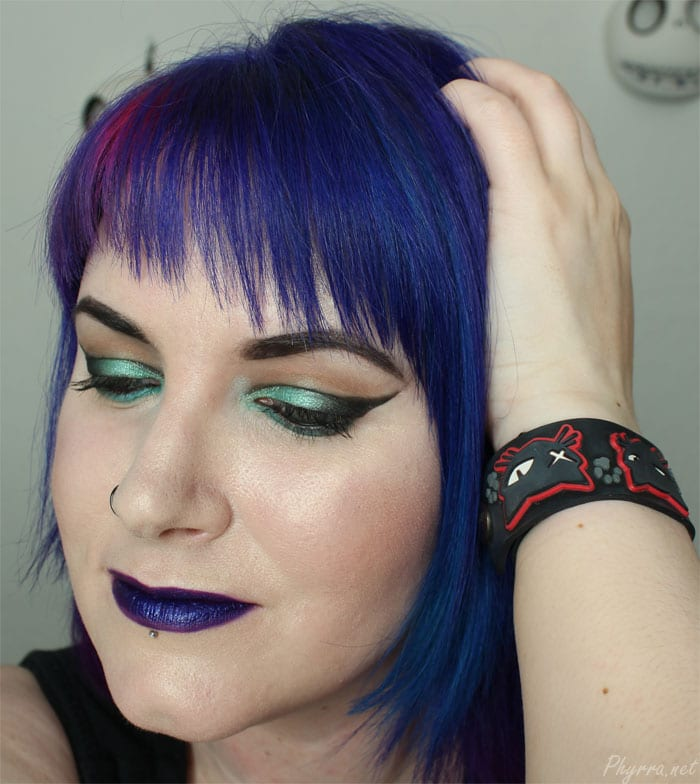 Wearing OCC Makeup Technopagan lip tar