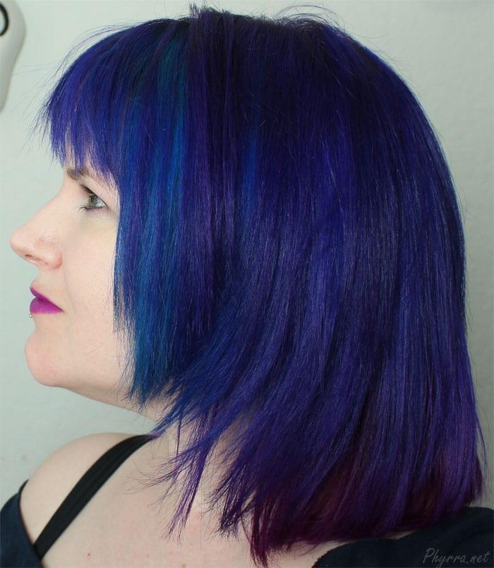 New Fringe My New Pravana Blue Violet Hair With Pale Skin