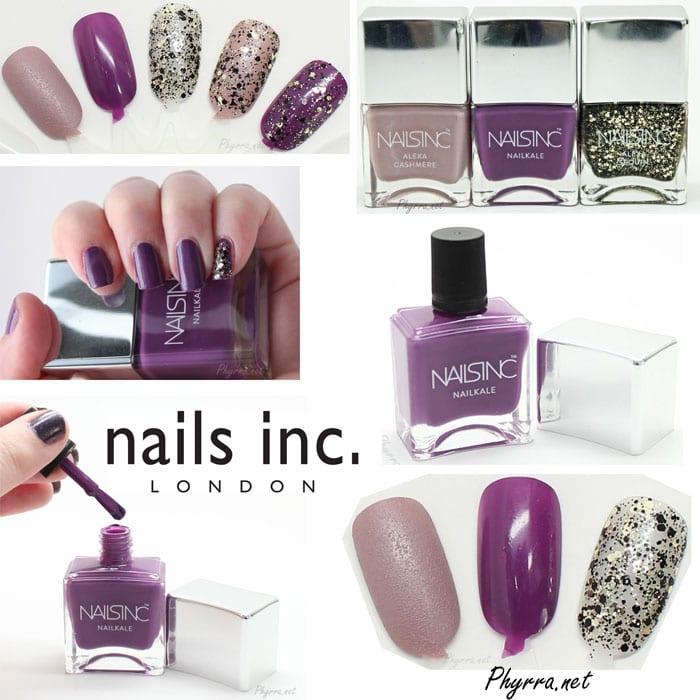 Nails Inc Alexa Chung and Nailkale Nail Polish Review Swatches