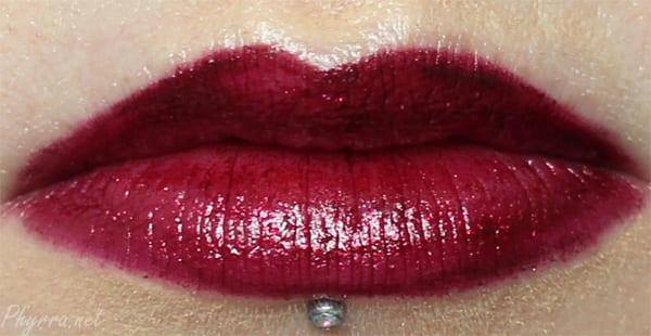 Wearing Obsessive Compulsive Cosmetics Black Metal Dahlia Lip Tar