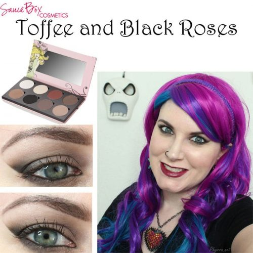 Saucebox Toffee and Black Roses Look