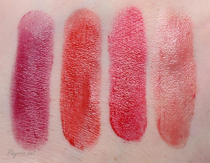 Silk Naturals Lipstick Swatches