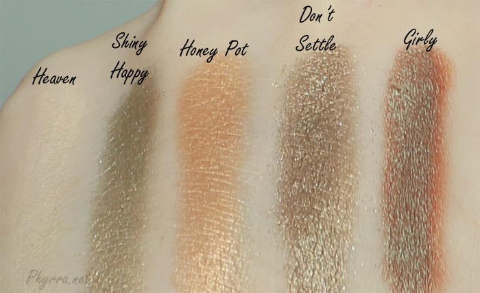 Too Faced Everything Nice Set Swatches