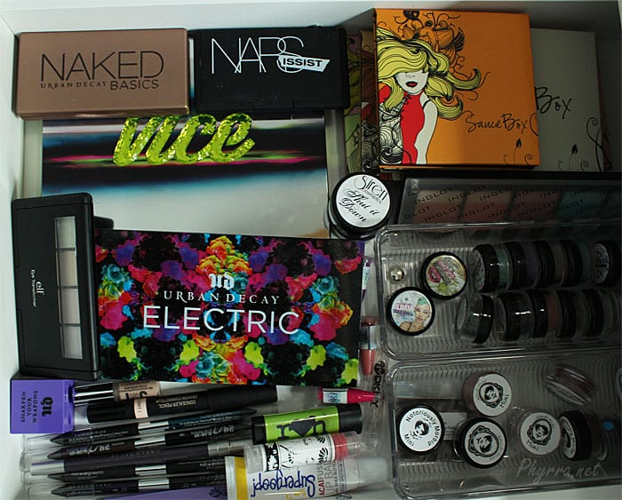 Urban Decay, Sauce Box, Glamour Doll eyes, Notoriously Morbid, and more