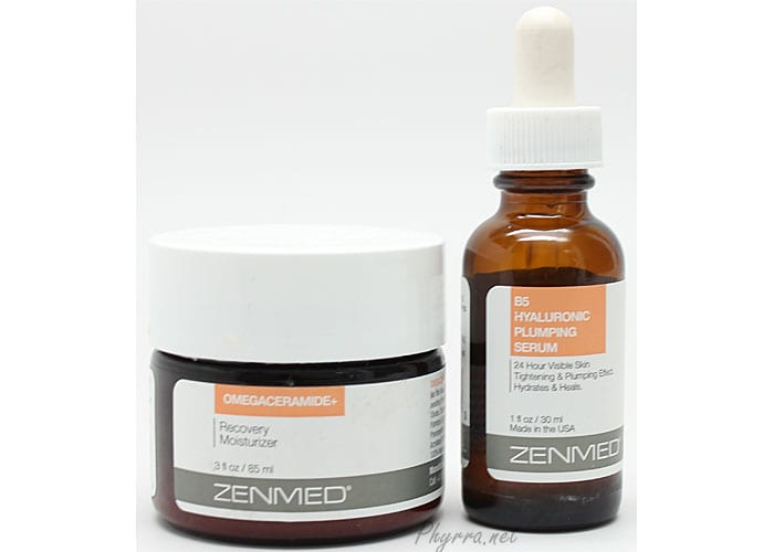 Zenmed B5 Hyaluronic Plumping Serum and Omegaceramide+ Recovery Moisturizer Review