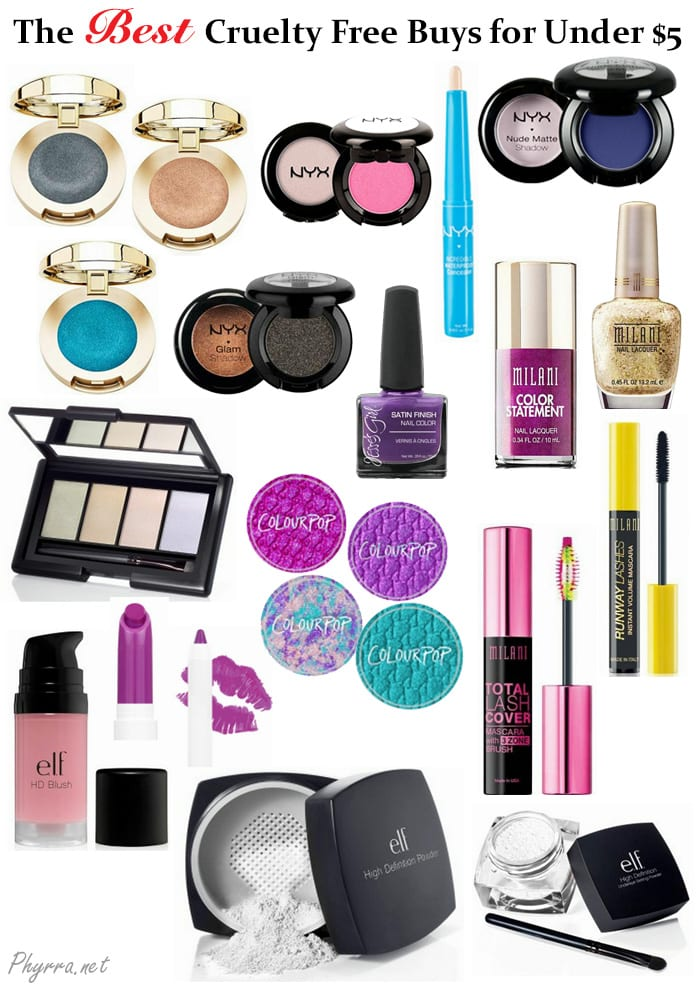 Best Cruelty Free Makeup For $5 or Less