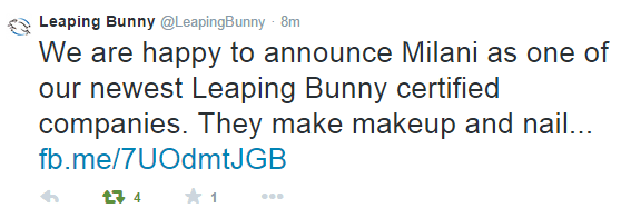 Milani Cosmetics is Now Leaping Bunny Certified