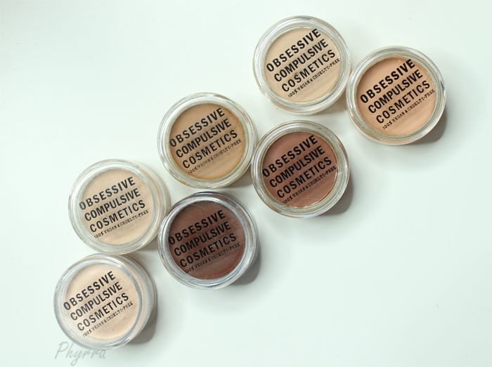 Obsessive Compulsive Cosmetics Skin Conceal Review swatches