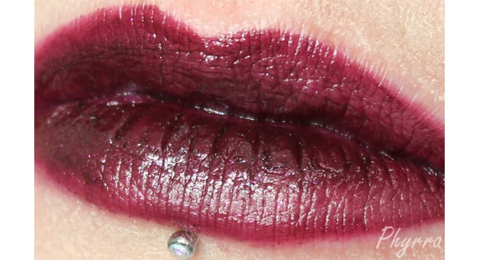Performance Colors Black Rose Lip Swatch - www.Phyrra.net