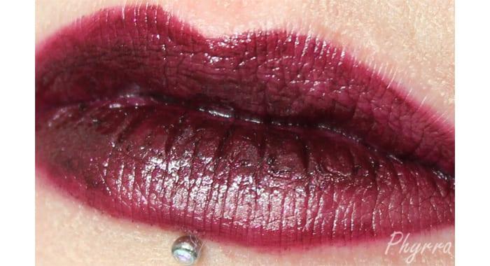 Performance Colors Black Rose Lip Swatch - www.Phyrra.net